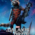 Galaxis őrzői karakterplakát Rocket Mordály